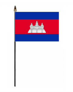 Cambodia Country Hand Flag - Small.